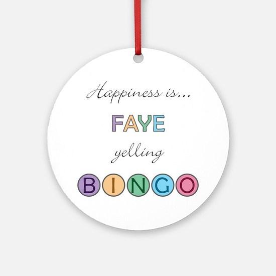Faye BINGO Round Ornament
