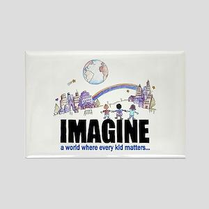 """Imagine"" Rectangle Magnet"