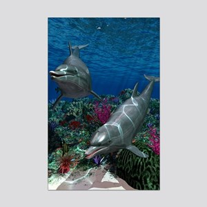 Dolphins Mini Poster Print
