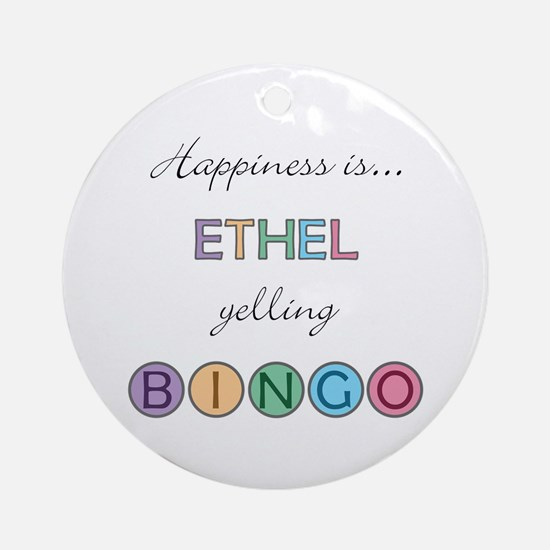 Ethel BINGO Round Ornament
