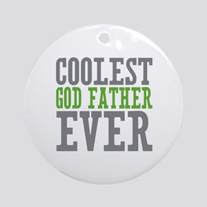 Coolest God Father Ornament (Round)
