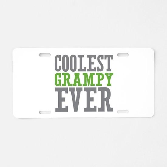 Coolest Grampy Aluminum License Plate
