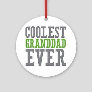 Coolest Granddad Ornament (Round)