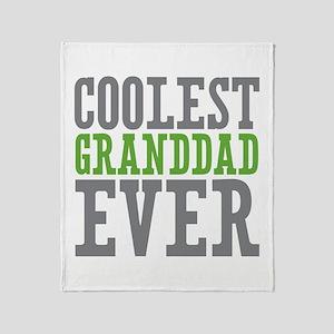 Coolest Granddad Throw Blanket