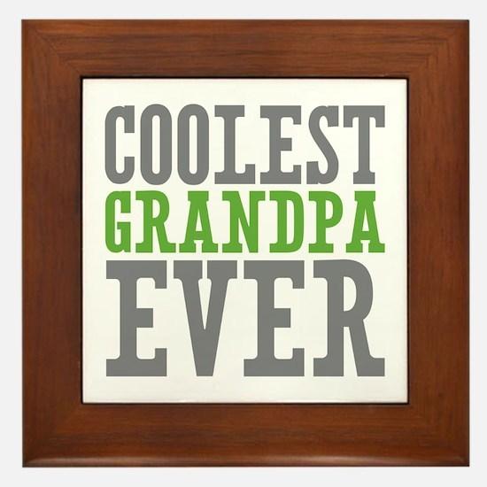 Coolest Granpda Framed Tile
