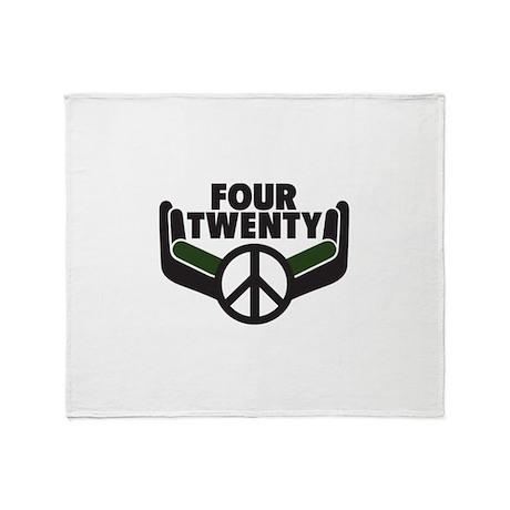 Four Twenty... Going Green! Throw Blanket