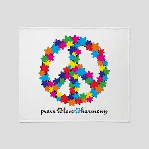 Peace. Love. Harmony. Throw Blanket