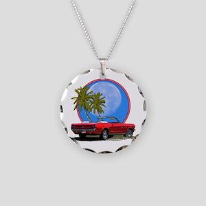 Mustang convertible Necklace Circle Charm