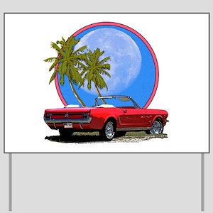 Mustang convertible Yard Sign