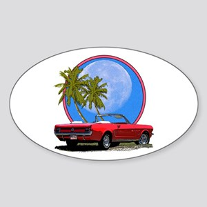 Mustang convertible Sticker (Oval)
