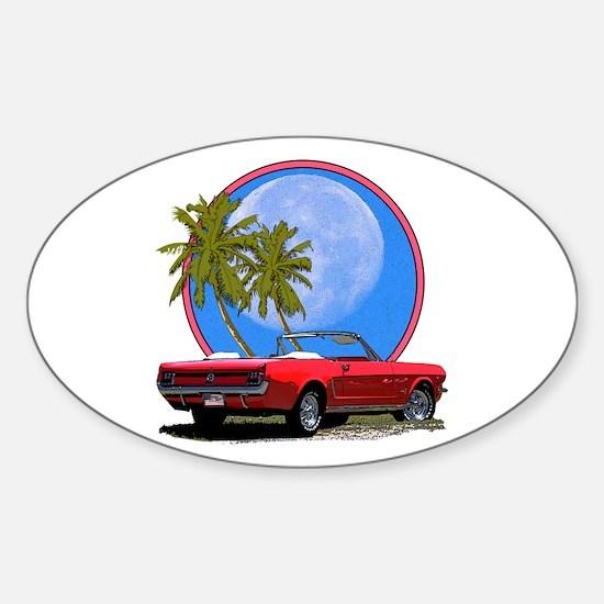 Mustang convertible Sticker (Oval)