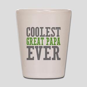 Coolest Great Papa Shot Glass