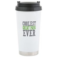 Coolest Great Papa Stainless Steel Travel Mug
