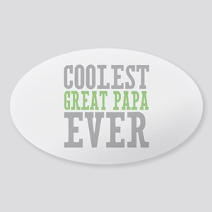 Coolest Great Papa Sticker (Oval)