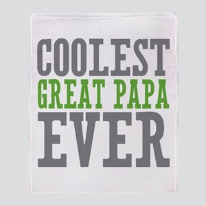 Coolest Great Papa Throw Blanket