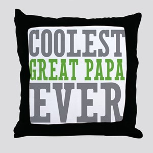 Coolest Great Papa Throw Pillow