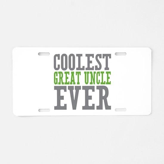 Coolest Great Uncle Aluminum License Plate