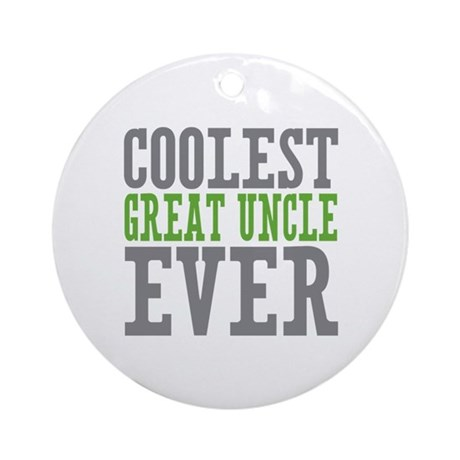 Coolest Great Uncle Ornament (Round)