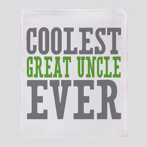 Coolest Great Uncle Throw Blanket