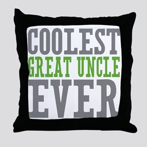 Coolest Great Uncle Throw Pillow