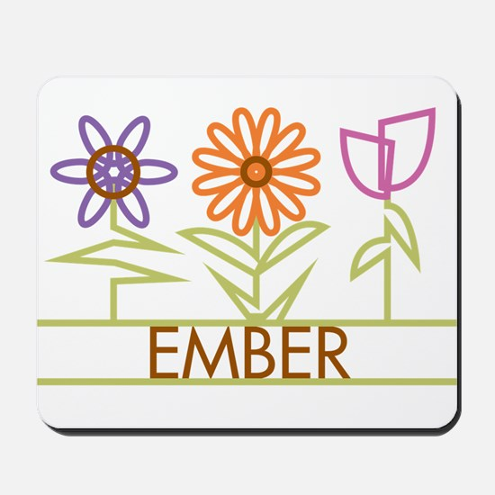 Ember with cute flowers Mousepad