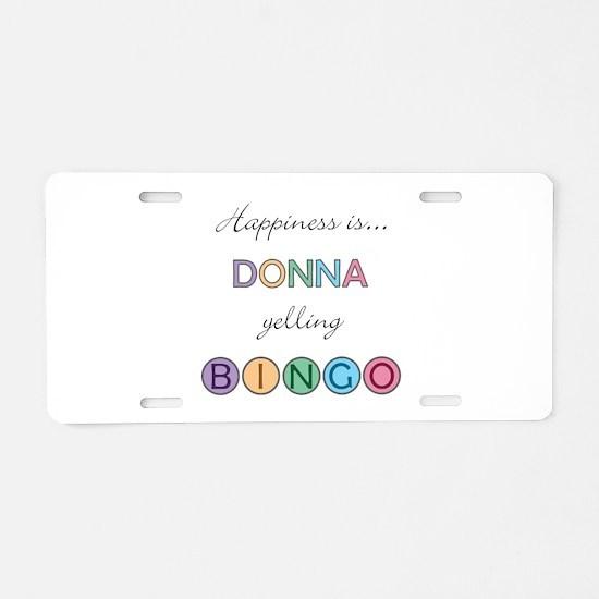 Donna BINGO Aluminum License Plate