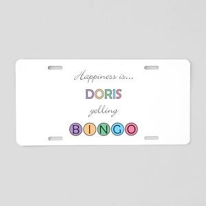 Doris BINGO Aluminum License Plate