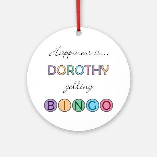 Dorothy BINGO Round Ornament