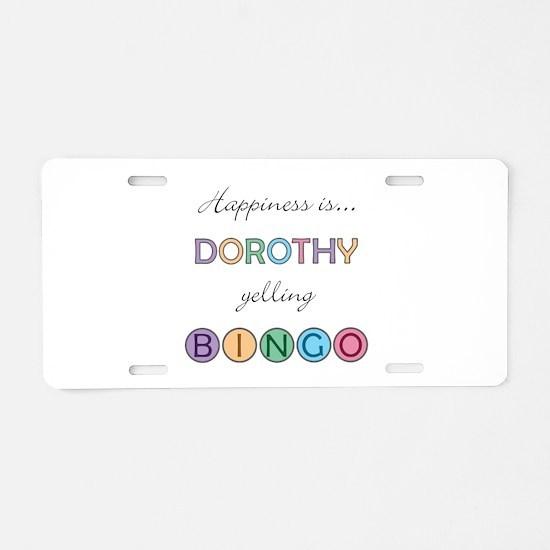 Dorothy BINGO Aluminum License Plate