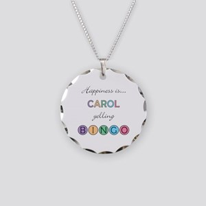 Carol BINGO Necklace Circle Charm