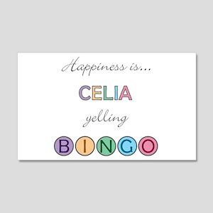 Celia BINGO 22x14 Wall Peel