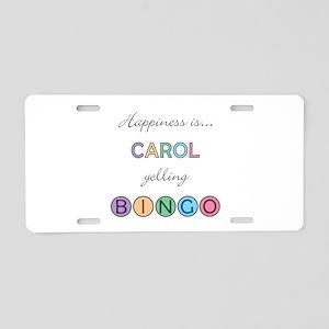 Carol BINGO Aluminum License Plate