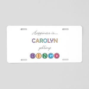 Carolyn BINGO Aluminum License Plate