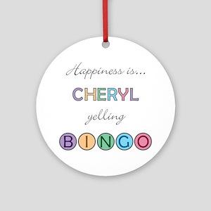 Cheryl BINGO Round Ornament