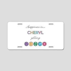 Cheryl BINGO Aluminum License Plate