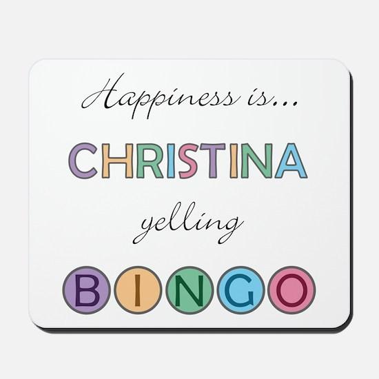 Christina BINGO Mousepad