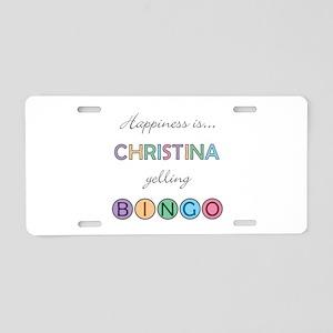 Christina BINGO Aluminum License Plate