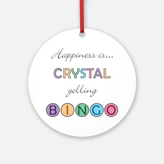 Crystal BINGO Round Ornament