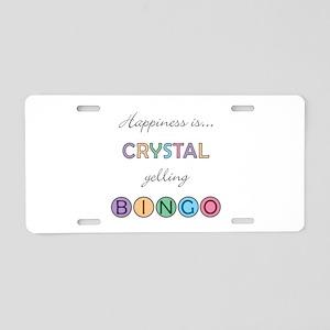 Crystal BINGO Aluminum License Plate