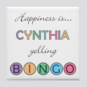 Cynthia BINGO Tile Coaster