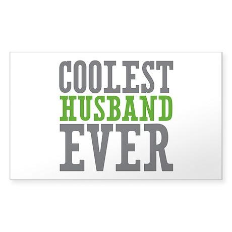Coolest Husband Sticker (Rectangle)