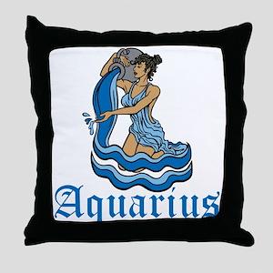 Aquarius Throw Pillow