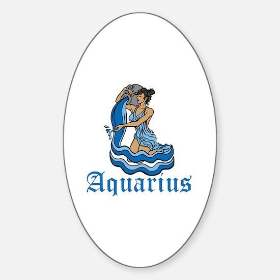 Aquarius Sticker (Oval)