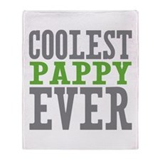 Coolest Pappy Throw Blanket