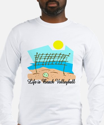 Beach Volleyball Long Sleeve T-Shirt