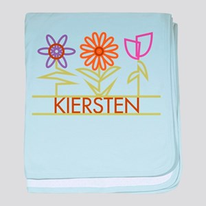Kiersten with cute flowers baby blanket