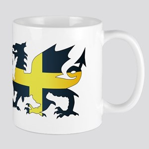 Welsh Dragon Saint David Flag Mugs