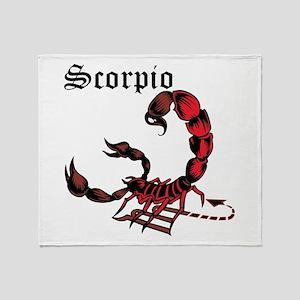 Scorpio Throw Blanket