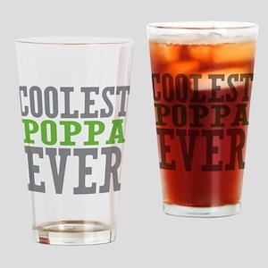 Coolest Poppa Drinking Glass