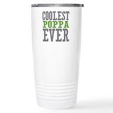 Coolest Poppa Stainless Steel Travel Mug
